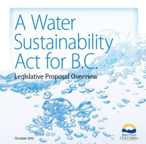 Legislative Proposal - BC Water Sustainability Act Oct